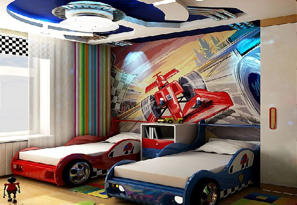 Kinderkamer Ideeen Auto : Kids Car Room Decor