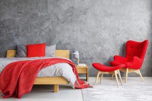 Rood beddengoed en accessoires