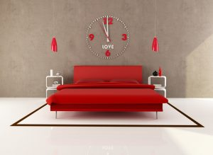 een rood bed