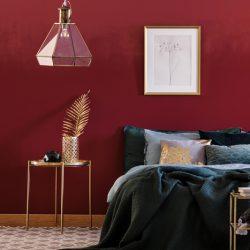 rood in de slaapkamer