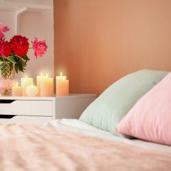 een romantische slaapkamer