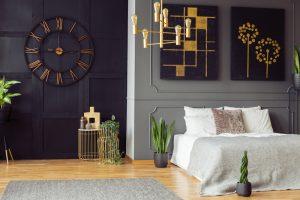 een-zwarte-slaapkamermuur